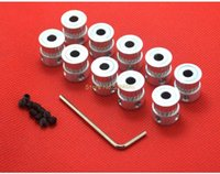Wholesale Timing Pulley Free Shipping - Wholesale-10pcs lot GT2 Timing Pulley 20teeth ( 20 teeth ) Alumium Bore 5mm for width 6mm belt Free shipping