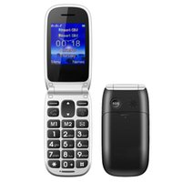 Wholesale Cheap Flip Phones Wholesale - Cheap Flip Cell Phone W77 2.2 Inch Small Size Old Man Senior Mobile Phone Big Button Loudspeaker SOS Function With Charging Dock