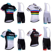 Wholesale Green Cycling Kit - 2017 Bora Hansgrohe Summer cycling jersey and bib shorts kit Four-color