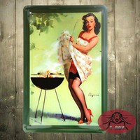 Wholesale Garage Wall Vinyl - Tin sign metal wall art Retro Vintage, Metal, Tin Sign, Man cave, Garage H-13 160909#