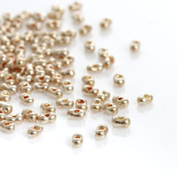 Wholesale Wholesale Gold Seed Beads - (Japan Import)Glass Seed Beads Berry Gold Plated About 4mm x 2mm,Hole: Approx 0.8mm,10 Grams(Approx 30 PCs Gram) 2016 new