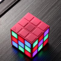 Wholesale Mini Cube Speaker Bluetooth - Magic Cube Colorful 36 LED 5 Mode Bluetooth 4.0 Mini Speaker Wireless Portable Super Bass Sound Subwoofer Handsfree for iPhone Tablet PC TF