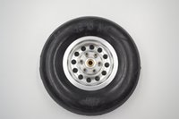 "Wholesale Fixed Wheel Parts - 4 Pieces of High Quality RC Airplane Parts 4.5"" 114mm Rubber Wheels Tire Hole 5mm 2 Pairs For Fixed Wing RC Airplane"