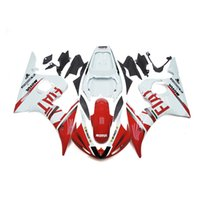 Wholesale R6 Fairing Kit Fiat - Fairings For Yamaha YZF600 R6 YZF-R6 Year 03 04 05 2003 2005 ABS Plastics Motorcycle Fairing Kit Bodywork Aftermarket Cowling FIAT Red White