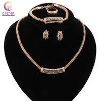 Wholesale bracelet for anniversary sale resale online - New Necklace Women jewelry sets Trendy statement necklace with earrings for party wedding Exclusive sales