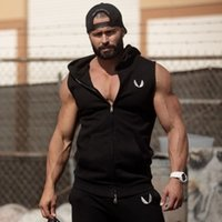 Wholesale Mens Sleeveless Tees - Men Golds Gym Stringer Tank Top Mens Sweatshirts Clothing Fitness Sleeveless Sport Shirt Cotton Vests Singlets Tees Slim