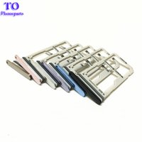 Wholesale dual sim card holder - Original New single Dual Sim Card + Micro SD Tray Slot Holder For Samsung Galaxy S8 G950 S8 Plus G955 5Colors Replacement