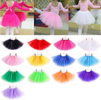 Wholesale Kids Girls Spring Skirts - Hot Selling 2017 Autumn 14 colors candy color kids tutus skirt dance dresses soft tutu dress 3layers children skirt clothes skirt princess