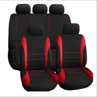 Wholesale Car Seat Covers Black Red - 9 pcs  set New High Quality Universal Car Seat Cover Full Seat Covers for Fiat 500 punto SUBARUBRZImpreza Forester WRXLegacy
