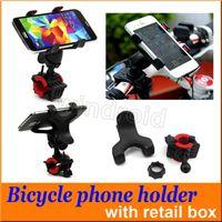ingrosso scatola dei motocicli-Supporto universale del telefono del motociclo del supporto del manubrio del supporto del telefono della bicicletta della bici di MTB di 360 gradi per il iPhone Samsung GPS7 di Samsung nota7 + scatola al minuto 100