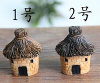 casas para férias venda por atacado-Chegam novas 3 cm resina bonito artesanato casa de fadas jardim miniaturas gnome micro paisagem decoração bonsai para home decor