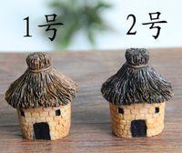 Wholesale Fairy Garden Decor - New Arrive 3cm cute resin crafts house fairy garden miniatures gnome Micro landscape decor bonsai for home decor
