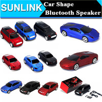 Wholesale Shape Speakers - Super Cool Bluetooth speaker Top Quality Car Shape Wireless bluetooth Speaker Portable Loudspeakers Sound Box for iPhone IPAD Computer