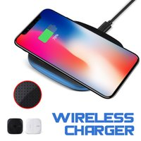 Wholesale galaxy pad charger - Fast Wireless Charger Qi Wireless Charger Charging Pad With Anti-Slip Rubber For Iphone X Galaxy Note8 S8 Plus Qi-Enabled Devices With Box
