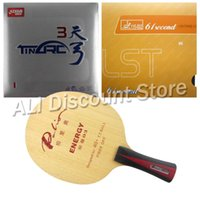 Wholesale Dhs Tinarc - Wholesale- Palio ENERGY 03 Blade with DHS TinArc 3 and 61second DS LST Rubbers for a Table Tennis Combo Racket FL