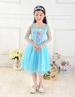 Wholesale Wholesale Printed Stockings - in stock princess girl dress girl print brand baby princess kids girl dress summer long sleeve free shipping