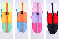 Wholesale Padded Shirt Small - FreeshippingColorful Cute Pet Dog Cat Winter Warm Coat Padded Vest Jacket Costumes Puppy Apparel Comfortable Clothes Pet Dog Clothes Harness
