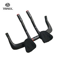 Wholesale Carbon Handlebar Bar Ends - TMAEX-Road Bike Rest Handlebar Full 3k Carbon Travel Cycling Aero Bar Bicycle TT Handlebars+Auxiliary Carbon Handlebar 480g