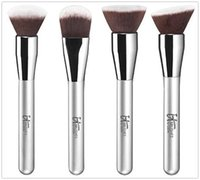 Wholesale Makeup Buffs - IT Cosmetics for Ulta Airbrush 4-Pieces Brush Set 101 106 110 115 buffing blurring OMG Foundation Brushes Deluxe Beauty Makeup Face Blender