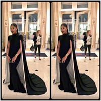 Wholesale Pink Short Strapless Prom Dresses - Modest Design Black Long Prom Dresses with Short Sleeves Sexy Modern Formal Evening Party Prom Gown Dress