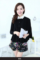 Wholesale Winter Korean version of a solid color loose knit shawl cape coat