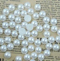 espalda plana perlas artesanias al por mayor-1000pcs Flatback Half Pearl Flat Back acrílico Pearl DIY Crafts Scrapbooking gratis 4 6 8 10 mm