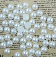 ingrosso metà perle acriliche-1000pcs Flatback Half Pearl Flat Back acrilico perla Artigianato fai da te Scrapbooking gratuito 4 6 8 10mm
