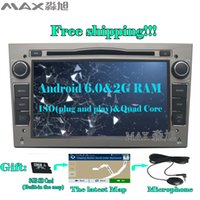 Wholesale Astra Opel Android - 2G+16G Android 6.0 Car DVD Player for Vauxhall Opel Astra H G J Vectra Antara Zafira Corsa with Radio BT GPS WIFI