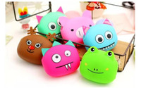 Wholesale silicone jelly handbags - Silicone Coin Purse Lovely Kawaii Candy Color Cartoon Animal Women handbags Girls Wallet Multicolor Jelly Purses for Kid Christmas Gift