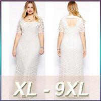 Wholesale Wholesale Clothing Women Evening - plus size dresses women XL-9XL clothes beach Vintage wedding dresses Evening Dresses Boutique tuxedo lace dress z36