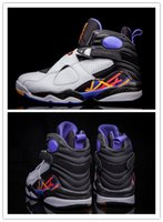 Wholesale Three Stretch - Discount Wholesale Retro 8 Three Peat 3 Peat White Infrared Black Mens Basketball Shoes Hot Sale High Quality 305381-142 Free Shipping