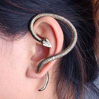 Wholesale Ear Cuffs For Sale - Hot Sale Vintage Metallic Punk Snake Ear Cuff Clip Earrings for Women Fashion Piecing Jewelry Ear Wrap for Girls Ear Cuff Jewelry Jewellry