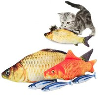 Wholesale 18cm Plush - Simulation Plush Cat Fish Toys 18cm Funny Fish Cat Pillow Plush Toy Cat Fish Cotton Pet Toy OOA2881