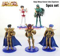 Wholesale Saint Seiya Action Figures Collection - Free Shipping Anime Saint Seiya Sagittarius Hyoga Taurus Gemini PVC Action Figures Collection Toys Dolls 5pcs set