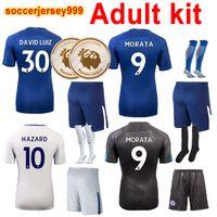 Wholesale Fabregas Jersey - Thailand 2017 2018 MORATA soccer jerseys Adult men kit sets 3rd third Hazard BAKAYOKO FABREGAS 17 18 football shirt KANTE camisa uniforms