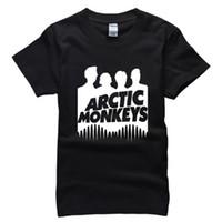 monos de roca al por mayor-Arctic Monkeys Men T Shirt Moda Rock Music Adultos Hip Hop algodón Hombre Camisas Más Tamaño Marca Ropa Camisetas Camisa AMD255