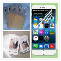 Wholesale film cleaning cloth - For Iphone 7 Clear Film Screen Protector Anti-shatter Guard Protectors Sticker Film With clean cloth Package For Iphone 6 6s 7 Plus 4s 5s SE