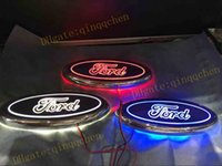 Wholesale Led Light Ford Kuga - For Ford FOCUS 2 3 MONDEO Kuga New 5D Auto logo Badge Lamp Special modified car logo LED light 14.5cm*5.6cm Blue Red White