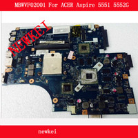 Wholesale Acer Video - Free shipping NEW75 LA-5911P MBWVF02001 For ACER Aspire 5551 5552G motherboard amd pm with 216-0810005 video card 8video RAM, 100% tested