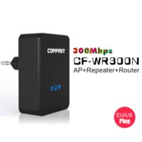 Wholesale Cdma Booster Repeater - COMFAST 300Mbps EU-Plug AP+Router+Repeater CF-WR300N Wireless Wi-fi Expander Signal Amplifier Roteador Wi fi Booster Extender repeater cdma