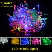 Wholesale Led Twinkle Light Curtain - New Christmas LED Strips 10M string Decoration Light 110V 220V For Party Wedding led twinkle lighting Christmas decoration lights string