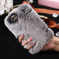 Wholesale Cover Note Rabbit - Rabbit Hair Soft Touch Fur Case Shockproof Protective Women Girl Lady Cover for Apple iPhone 7 PLUS 6 6S 5S NOTE 4 3 S4 S5 S3 S6 EDGE GALAXY