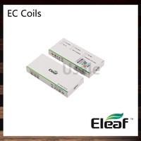 цистерны для мелотои оптовых-Eleaf EC Head 0.3 ohm 0.5 ohm EC керамическая головка 0.18 ohm ECL Head 0.75 ohm Ecml катушки для Ijust 2 распылитель Melo 3 бак 100% оригинал