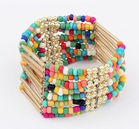 Wholesale Cheap Silver Charm Beads - 7 colors cheap hot sale bracelet Bohemian style tassel Fashion quality charm beads bracelet jewelry wholesale