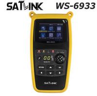 спутниковые датчики оптовых-Оригинальный Satlink WS-6933 DVB-S2 FTA C KU Band цифровой спутниковый Искатель метр с 2.1-дюймовым ЖК-дисплеем