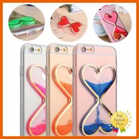 Wholesale Soft Silicone Handbag For Iphone - Dynamic Liquid Glitter Quicksand Clear Soft Phone Case Cover Mobile Covers For iPhone 7 5 5s se 6 6s Plus