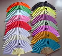 100pcs Été Chinois Papier à main Fans Pocket Folding Bamboo Fan Party Party Gift Favor Livraison rapide