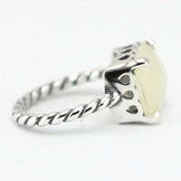Wholesale Ring Pearl Celtic - European Pandora Jewelry Genuine 925 Sterling silver Ring Plat Square crystal for wommen weeding ring