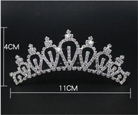 Wholesale Wholesale Crowns For Pageants - 1 pcs Freeshipping 8 styles Wedding party pearl crystal wedding princess headband rhinestone pageant tiaras and crowns for brides Girls hair