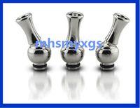 Wholesale Metal Slug - Rotating 360 Degree eGo Metal Drip Tip 510 Detachable Drip tip with Heat Insulation slug For 510 Atomizer Electronic Cigarette